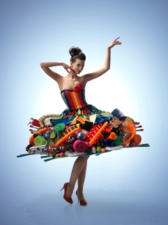 Product dress made for the PF Concept catalogue cover, photography by Peter Boudestein...