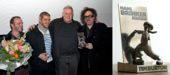 Hans Brinker award, first edition going to Tim Burton, idea and design by Yani and Roland Mylanus