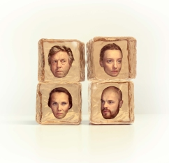Four 'amber' cubes I made for a poster of the 'stadsshouwburg utrecht', photography by Jeroen Hofman