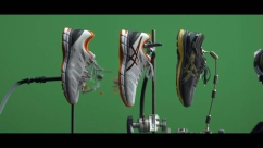 A bullet flying through a generic shoe that I prepared for the Asics 'metarun' commercial...