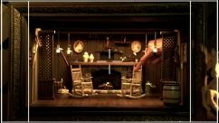 A miniature 'Cracker Barrel' restaurant fire place that I build...